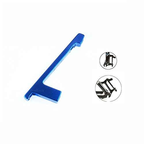 ProRuck MTB Disc Brake Adapter Post Caliper to Post Front Fork or Rear Frame PM-PM for 180mm Brake Rotor Disc (Blue)