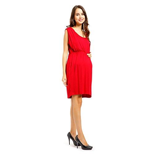 Vestido de Lactancia y Premamá Ropa de Embarazada Talla XXL Color Rojo: Amazon.es: Ropa y accesorios