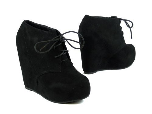 Amazon.com | Lace up Platform Wedge Bootie | Ankle &amp Bootie