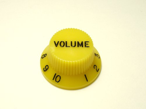 MIJ Colored Volume Knobs for Stratocaster inch (Yellow)