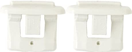 2-Pack Replacement Rack Slide End Cap for GE GSD GSM Series Dishwashers