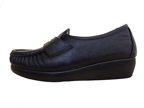 comfortable classic shoes leather Women's Esther Bllack FTwqYxH