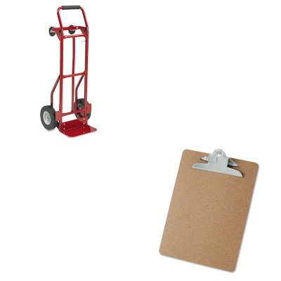 KITSAF4086RUNV40304 - Value Kit - Safco Two-Way Convertible Hand Truck (SAF4086R) and Universal 40304 Letter Size Clipboards (UNV40304) (Hand Convertible Way Truck Two)