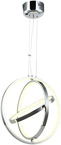 HT Modern Ring Led Chandelier Adjustable Hanging Light Three Ring Collection Contemporary Ceiling Pendant Light H47 X L32 x W32