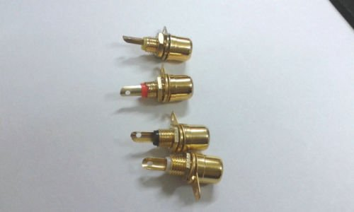 - 100 pcs RCA Phono Chassis Panel Mount Female Socket Metal adapter Gold plated