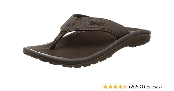 Ray Sandals Brown flip flops  10 11 12 OLUKAI OHANA Men/'s Dark Java