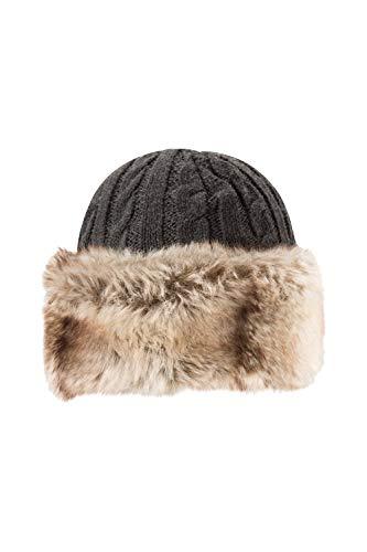 Mountain Warehouse Foldable Earmuffm Made from Soft Padded Fleece Black One Size