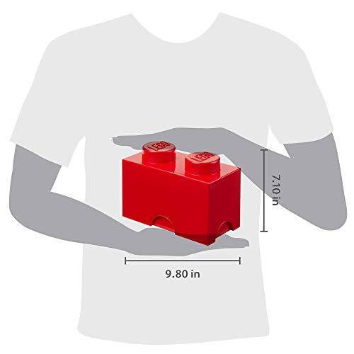 Room Copenhagen, LEGO Storage Brick Box - Stackable Storage Solution - Brick 2, Bright Red (L4002R)