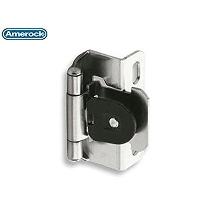 Beau Amerock Single Demountable Hinge Sterling Nickel   CM8719G9