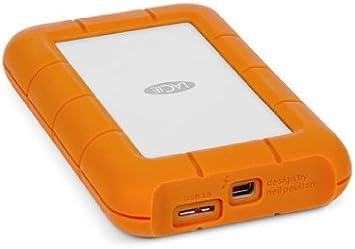 Amazon Com Lacie Lac9000299 Rugged Mini Usb 3 0 Thunderbolt Portable External Hd Orange 2tb Computers Accessories