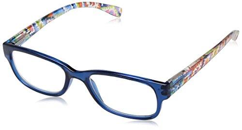 Sight Station Women's Makayla 1016321-125.COM Square Reading Glasses, Navy, - Glasses Aztec