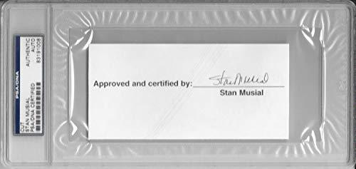 Stan Musial Autographed Signed Memorabilia Cut Saint Louis Cardinals Stl MLB Baseball HOF The Man PSA
