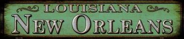Smart Blonde New Orleans Louisiana Metal Novelty Street Sign -
