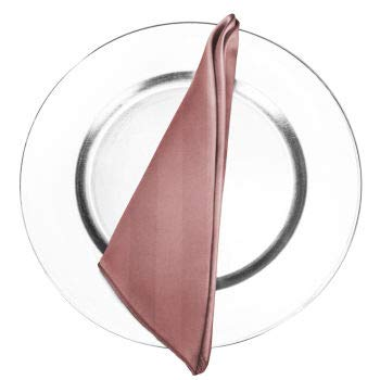 AGN Linen Satin Napkin 1-Dozen(18x18) (Dusty Rose)