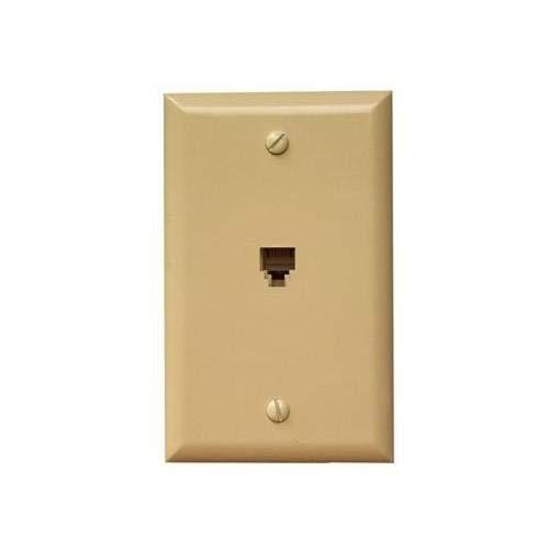Morris 80011 Single RJ11 4 Conductor Phone Jack Wall Plate White