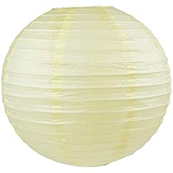 "4""6""8""10""12""14""16""18 Round Paper Lanterns Lamp Wedding Birthday Party Decoration (Ivory/Cream, 12""/30CM)"