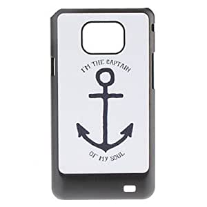 Nsaneoo - Anchor Pattern Hard Case for Samsung Galaxy S2 I9100