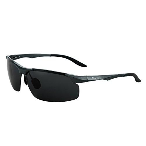 Mamck Black Cycling Fishing Golf Driving Sunglasses Polarized Sports Glasses (Mamck2, - Triathlon Bike Outlet