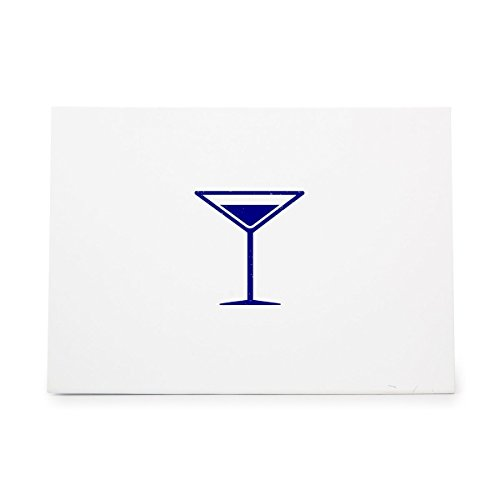 Martini Glass Glassware Drink Cocktail Style 12453, Rubber Stamp Shape great for Scrapbooking, Crafts, Card Making, Ink Stamping Crafts