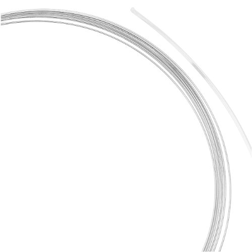 Beadalon Silver Plate Flat Necklace Memory Wire for Beading, 0.35-Ounce