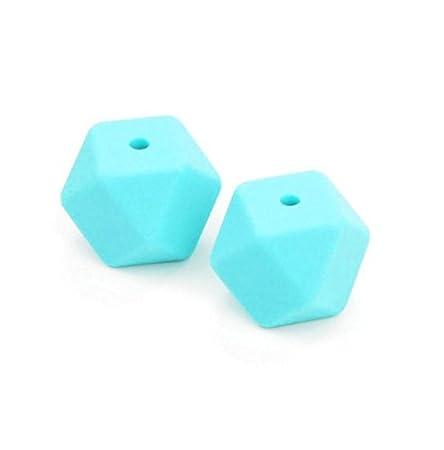 - BPA-frei 10 Stk Farbe wählbar Sadingo Silikonperlen Polygone