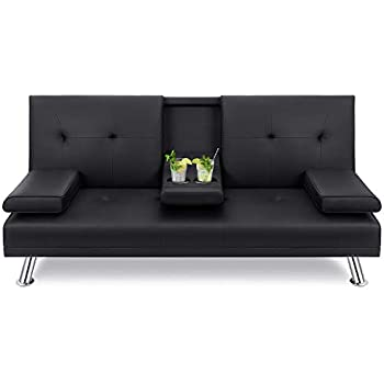 Cool Amazon Com Best Choice Products Modern Faux Leather Futon Caraccident5 Cool Chair Designs And Ideas Caraccident5Info