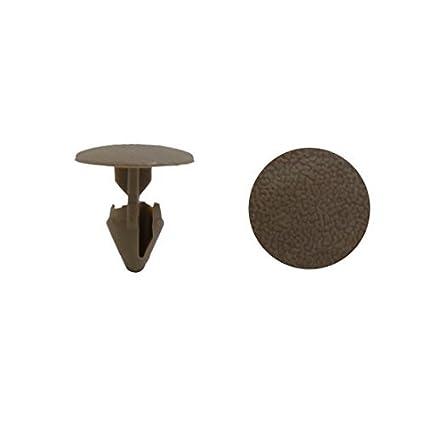 eDealMax 40pcs 9mm Clips del agujero del coche de plástico Pulse Tipo Sujetador del detenedor del