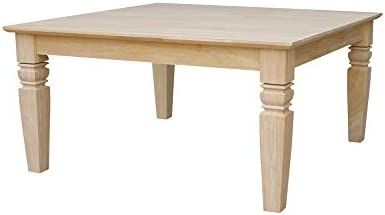 International Concepts Java Square Coffee Table Unfinished