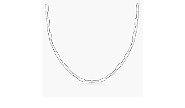 Grey Camel Silver Dainty Paperclip Link Chain Necklace Choker Long Chain Necklace for Women Girls
