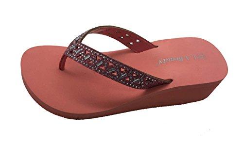 FLOPS Coral SUMMER Sandals FLIP THONG WEDGE Fashion Beach COMFY PLATFORM HOT vxAYYz