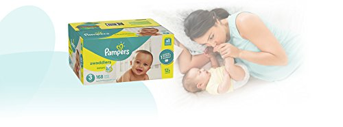 Large Product Image of Pampers Swaddlers Disposable Baby Diapers Size 3, 168 Count, ONE MONTH SUPPLY