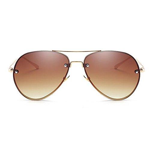tea monture de millimete soleil largeur JUNDASI Lunettes de soleil Femmes Lunettes surdimensionnée 62 aviateur métallique verres des Hommes qzfXT1