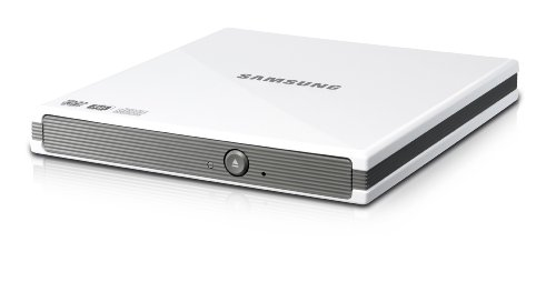 Samsung External Slim DVD-W USB Compatible with Mac and PC SE-S084C/RSWN (White) by Samsung (Image #1)
