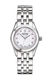 (Victorinox Swiss Army Quartz, Stainless Steel Silver Band Mother of Pearl Dial - Women's Watch 24849)