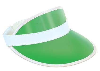 Clear Green Plastic Dealer's Visor for Vegas Poker Gambling Fancy Dress Accessory by Partypackage (Poker Dealer Costumes)
