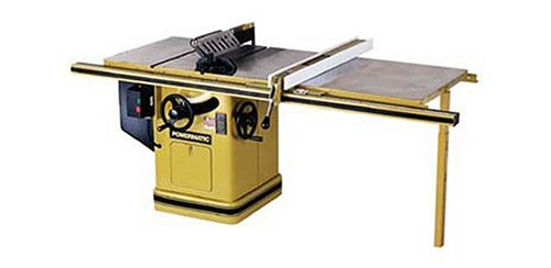 Powermatic 1660807K Model 66 10-inch Left Tilt 5 Horsepower Cabinet Saw with 50-Inch Accu-Fence, 2 Cast Iron Extension Wings,Table Board, and Legs, 460-Volt 3 Phase (Table Saw Powermatic)