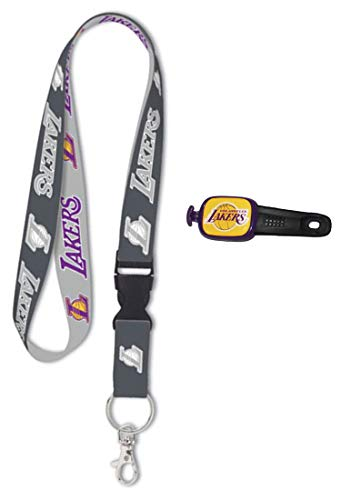- Wincraft Bundle 2 Items: Los Angeles LA Lakers 1 Premium Charcoal Edition Lanyard and 1 Stwrap Bag Id