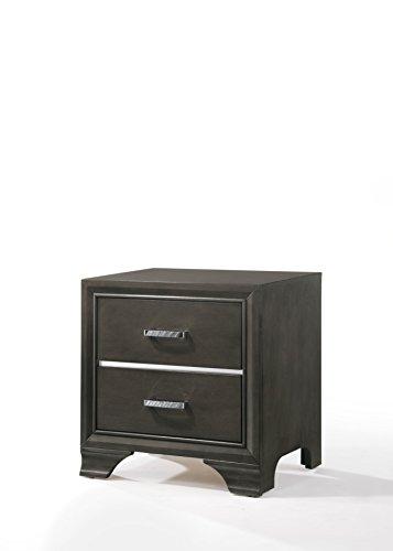Set Acme Nightstand Furniture - Acme Furniture 26263 Carine II Nightstand, Charcoal