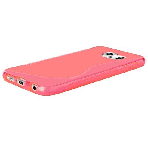 Galaxy S6 Funda, ChannelExpert Borrar Púrpura S Forma [Anti-Shock Protection] Slim Gel TPU piel de silicona suave cubierta de la caja de la piel Para Samsung Galaxy S6 Forma clara Rosa S