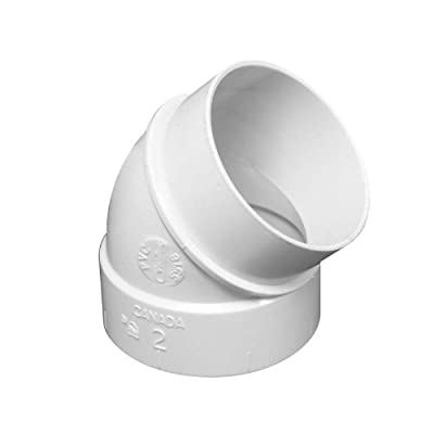 3 Central Vac 45 Degree Spigot Fittings by Vaculine