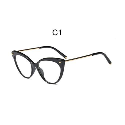 b9022fcf4 FidgetKute Cat Eye Glasses Frame Clear Lens Optical Women's Radiation  Protection HD Glasses C1 from FidgetKute