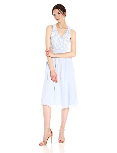 French Connection Women's Dalia Sheer Dress, Salt Water/Summer White, 12 by French Connection