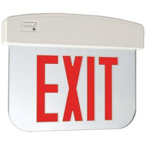 Cooper Lighting APXEL71R Single Face Self Powered APXEL Series LED Edge-Lit Exit Sign White Housing Red Letter 120/277 Volt Sure-Lites ()
