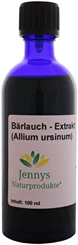 Bärlauch - Extrakt flüssig - 100 ml - in schöner Blauglasflasche - Hergestellt in Deutschland - von Jennys Naturprodukte®