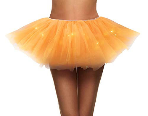 Simplicity Womens Tutu Skirt with Led Light up Layered Tulle Costume Party Dance -