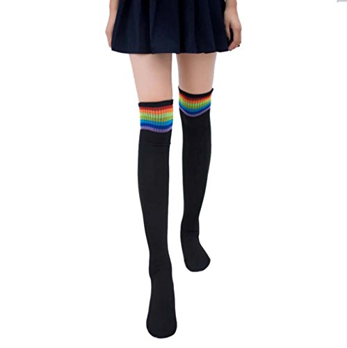 MML Women Winter Warm Cable Long Boot Socks Over Knee Thigh High Stockings Black 2IMGQquKhB