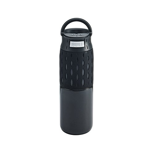Built NY 5197082 Touch Double Wall Stainless Steel Push-to-Drink Travel Coffee Mug with 'Perfect Seal' Technology, 16-Ounce, Black ()