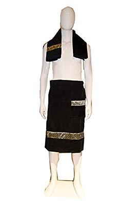 Luxury Selection 100% Turkish Cotton 2 Piece Men's Body, Bath, Shower and Spa Wrap Set