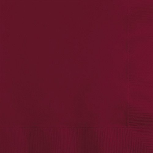 Club Pack of 600 Burgundy Premium 2-Ply Disposable Party Beverage Napkins -