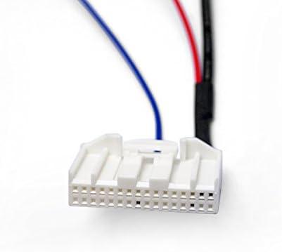 FEELDO 32-Pins Parking Reverse Rear Camera Video Plug Converter Cable Adapter for Nissan Qashqai//Teana//X-Trail Car Head Unit